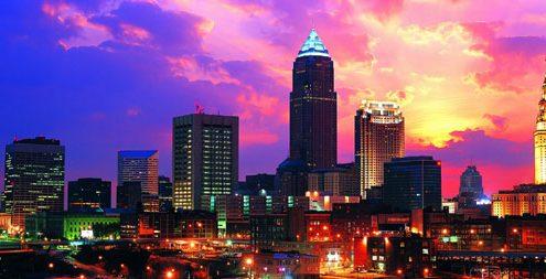 קליבלנד אוהיו ארצות הברית בשעות הלילה